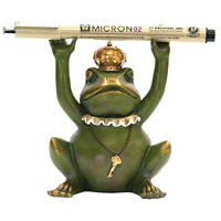 Sterling 7-8198 Superior Frog Gatekeeper Painted Pen Holder