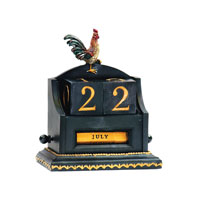 Date Keeper Painted Decorative Accessory