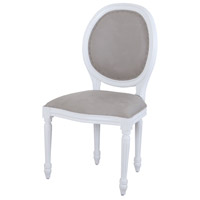 Viola White and Grey Dining Chair