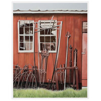Farm Tools Gloss White Wall Decor