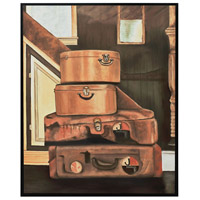 Leather Luggage Gloss Black Wall Decor
