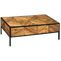 Sterling 7011-1600 Padua 51 X 25 inch Natural with Black Coffee Table