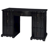 Loretta 48 X 22 inch Grain De Bois Noir Desk Home Decor