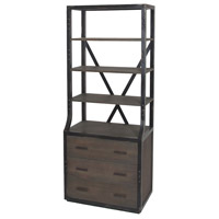 Astoria 82 X 33 X 20 inch Waterfront Grey Stain Shelf