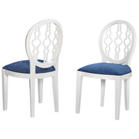 Dimple Cappucino Foam, Navy Chair Home Decor in Cappucino Foam and Navy