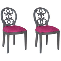 Dimple Antique Smoke, Cerise Boudoir Chair