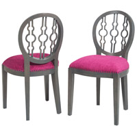 Sterling Dimple Chair in Antique Smoke, Cerise 7011-629