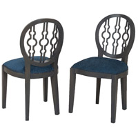 Dimple Antique Smoke, Navy Boudoir Chair in Antique Smoke and Navy