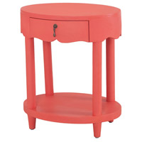 Sterling 7011-957C Barbados 27 X 23 inch Coral/Natural Raffia Accent Table
