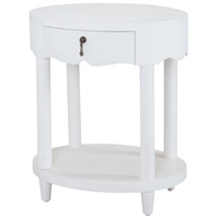 Sterling 7011-957W St. Kitts 27 X 23 inch Natural Raffia/White Accent Table