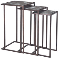 Seneca 16 X 16 inch Salcombe Silver Accent Table Home Decor, Set of 3