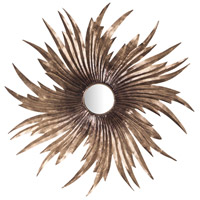 Louise 32 X 32 inch Battery Bronze Mirror Home Decor