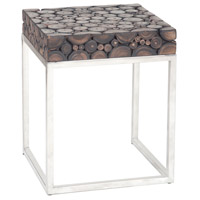 Terrene 16 X 16 inch Dark Natural Teak Accent Table Home Decor
