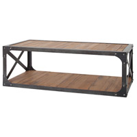Sterling 7162-059 Jose 47 X 24 inch Natural Woodtone, Bronze Iron Coffee Table