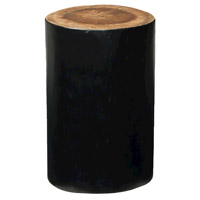 Junction Natural and Black Stool Home Decor