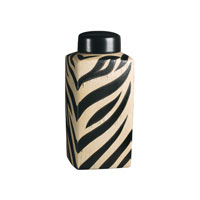 Sterling Industries Large Zebra Jar Decorative Accessory 72-3212 photo thumbnail