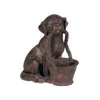 Sterling Industries Pooch With Basket Statue 87-1662