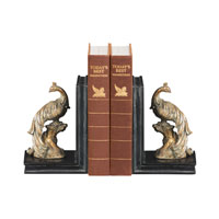 Sterling Industries Pair Perching Peacocks Bookends Decorative Accessory 87-4179