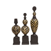 Sterling Industries Set of 3 Kilimanjaro Finials Decorative Accessory 87-4943