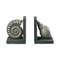 Sterling Industries Shell Bookends in Gannon Green / Silver 87-8000