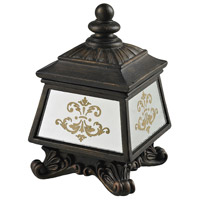 Sterling Industries Bronze Box With Damask Printed Mirror in Aria Bronze / Clear Mirror 87-8002