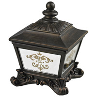 Sterling Industries Bronze Box With Damask Printed Mirror in Aria Bronze / Clear Mirror 87-8003