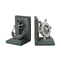 Sterling Industries Coastal Bookends in Gannon Green / Silver 87-8008