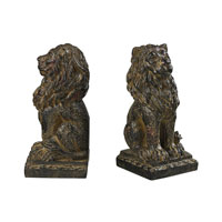 Sterling Industries Lion Bookends in Aged Copper 87-8014