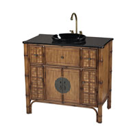 Sterling Signature Vanity Unit in Light Brown With Antique and Black Marble 88-9010