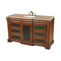 Sterling Signature Vanity Unit in Antique Brown and Cream Marble 88-9015