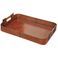 Leather Accessories Brown Tray, Large
