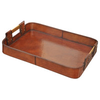 Leather Accessories Brown Tray, Small