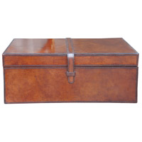 Leather Accessories 16 X 12 inch Brown Box, Large