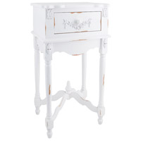 Sterling Industries White Milkpaint Side Table 89-1803 photo thumbnail