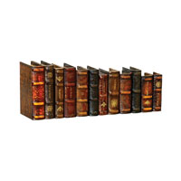 Sterling Industries Set of 12 Leatherbound Books Decorative Accessory 89-2858