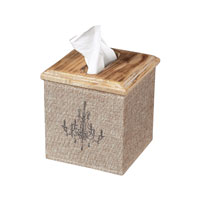 Sterling Industries Linen Covered Tissue Box Decorative Accessory in Linen / Washed Pine 89-8005