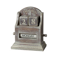 Sterling Industries Washed Wood Date Keeper Decorative Accessory in Londrina 89-8011
