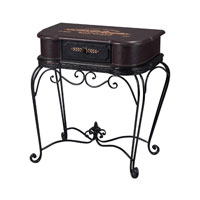 Sterling Industries French Cheateau Side Table in Jacques Black 89-8017