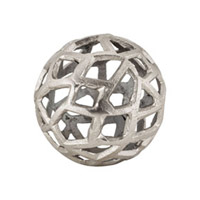 Signature Raw Nickel Decorative Ball
