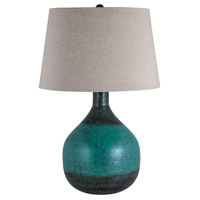 Eleuthera Island 27 inch 150 watt Patina Table Lamp Portable Light