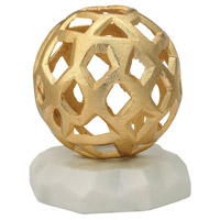 Hive Gold, White Marble Tabletop Sculpture
