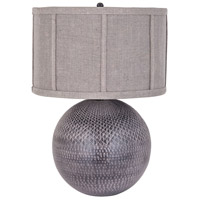 Balthazar 23 inch 150 watt Grey Patina Table Lamp Portable Light