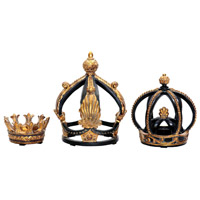 Sterling Industries Set of 3 Crowns Statue 91-0013