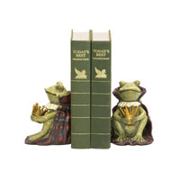 Sterling Industries Pair Frog Prince Bookends Decorative Accessory 91-1111 photo thumbnail