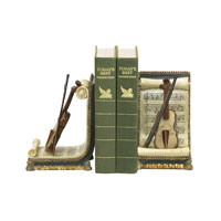 Sterling Industries Pair Violin And Music Bookends Decorative Accessory 91-1613 photo thumbnail