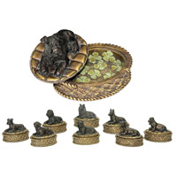 Sterling Industries Set of 8 Lucky Dog Boxes Decorative Accessory 91-1797