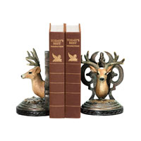 Sterling Industries Pair Deer Head Bookends Decorative Accessory 91-2035