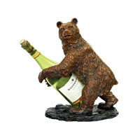 Sterling Industries Bear Wine Holder Decorative Accessory 91-2119 photo thumbnail