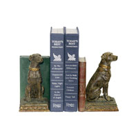 Sterling Industries Pair Chocolate Lab Bookends Decorative Accessory 91-2629