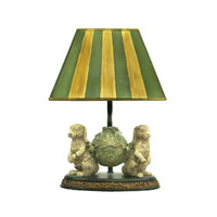Sterling Industries Bunnies Bearing Dinner 1 Light Table Lamp in Alman Antique White / Green 91-277
